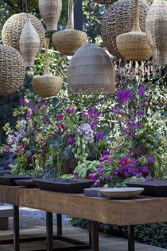 Ideia de decoração de casamento colorida e orgânica