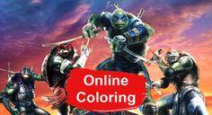 Teenage Mutant Ninja Turtles 2 Online Coloring Pages Ninja Turtles 2, Ninja Turtle Birthday, Ninja Turtle Party, Teenage Mutant Ninja Turtles, Ninja Turtle Coloring Pages, Hollywood Video, Turtle Time, Online Coloring Pages, Color Activities
