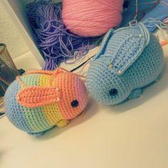 849 Likes, 10 Comments - Johnny Reigh Navarro (@heartstringcrochet) on Instagram: Working on some bunnies. ***Not My Pattern*** #crochet #amigurumi #kawaii #chibi #cute #adorable