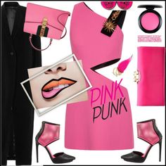 pink punk Outfit Idea 2017