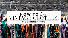 How To Shop For Vintage Clothes #vintageshopping #shoppingtips