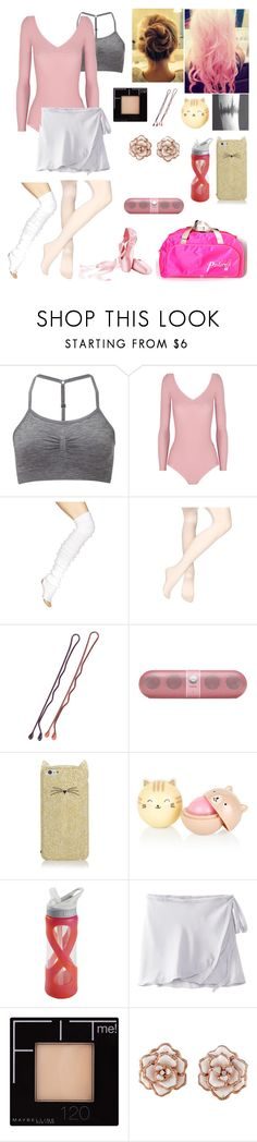 """""""Oc dance outfit"""" by geekywriter2030 ❤ liked on Polyvore featuring Sweaty Betty, Ballet Beautiful, Beats by Dr. Dre, Kate Spade, CamelBak, Cotton Candy, Capezio and Maybelline"""