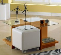 mesa de centro de vidro com puff - Buscar con Google