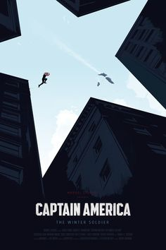 poster minimalista del Captain America: The Winter Soldier.
