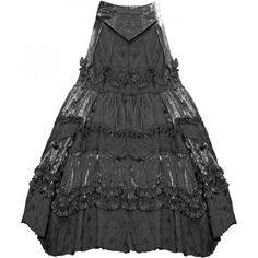 Luxuriously ornate gothic skirt (long), many layered design, by Sinister.
