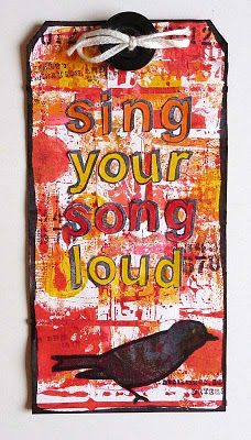 Sing Your Song Loud - A Tag by Deborah | That's Blogging Crafty!