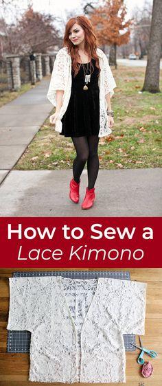 How to sew a lace kimono