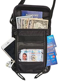 Hopsooken Travel Neck Pouch Passport Holder with Rfid Blocking, Use As Travel Wallet or Hidden Wallet - Protect Your Money, Passport, Credit Cards, Cell Phone and Documents,6 Pockets (black). ☆ Imports. ☆ MATERIAL: High-quality nylon, tear-resistant, highly durable, waterproof, and light-as-a-feather. The back is made of ultra-soft breathable mesh, which increases your comfort by allowing the evaporation of any perspiration. The zipper is made of a strong zinc alloy making it even more…