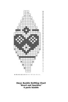 Make your own knitted Christmas baubles for your tree Knit Christmas Ornaments, Beaded Ornaments, Christmas Knitting, Christmas Stockings, Xmas, Knitting Charts, Knitting Stitches, Knit Patterns, Cross Stitch Patterns