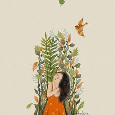 All of this looks so great gentle yoga flow Cute Illustration, Character Illustration, Digital Illustration, Oil On Canvas, Canvas Art, Early Spring Flowers, Love Painting, Pictures To Draw, Cute Drawings