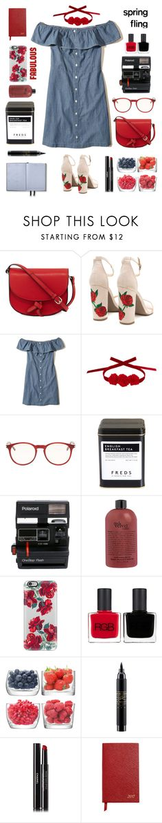 """""""Sin título #1504"""" by solespejismo ❤ liked on Polyvore featuring KC Jagger, Hollister Co., Vjera Vilicnik, Yves Saint Laurent, FREDS at Barneys New York, Polaroid, Casetify, RGB, LSA International and MAC Cosmetics"""