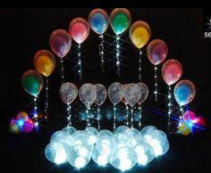 balloon decor balloon column decor with lighting column with lighting balloon arch arch with lighting Led Balloons, Balloon Lights, Balloon Columns, Led String Lights, Balloon Arch, Balloon Centerpieces, Balloon Decorations, Balloon Ideas, Neon Party Themes