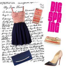 dress by paulinka-liskova on Polyvore featuring polyvore fashion style Christian Louboutin Monsoon White House Black Market