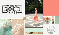 Vintage Coral Mood Board >> Hannah Rose Beasley
