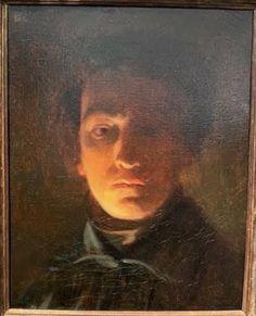 Cals, Autoportrait de nuit, vers 1838, h/t, 40,9 x 32,9 cm, signé, Talabardon & Gautier, Tefaf 2020 Gautier, Signs, Mona Lisa, Artwork, Portraits, Self Portraits, Night, Work Of Art, Auguste Rodin Artwork