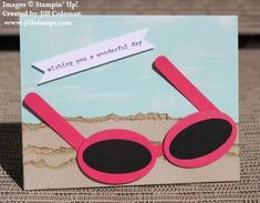 Sunglasses Punch Art Card by jillastamps - Cards and Paper Crafts at Splitcoaststampers