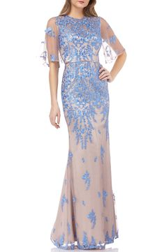 Looking for JS Collections Floral Embroidered Evening Dress ? Check out our picks for the JS Collections Floral Embroidered Evening Dress from the popular stores - all in one. Formal Dresses For Women, Formal Gowns, Evening Dresses Online, Evening Gowns, Dress Online, Wedding Dress Capelet, Trumpet Gown, Groom Dress, Nordstrom Dresses