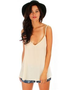 Natural What's Strap-pening? Chiffon Top - Abodin.com $14.95