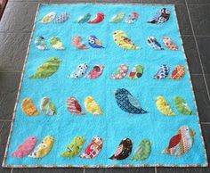 LOVE the pieced birds and LOVE the quilting! This is so much fun and so beautiful!