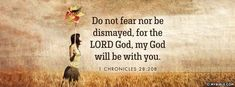 1 Chronicles 28:20 NKJV - Do Not Fear Nor Be Dismayed - Facebook Cover Photo