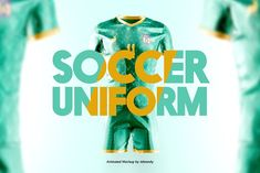 For clubs, for teams, for countries, for all football fans - the New Soccer Uniform Animated Mockup. rotation, customizable design of each part through a Animation Types, Soccer Uniforms, Shirt Mockup, Football Fans, Creative Words, Light And Shadow, Animated Gif, Overlays, Colorful Backgrounds