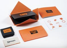 Self-promotional mailer and CV by Simon Wadsworth, via Behance