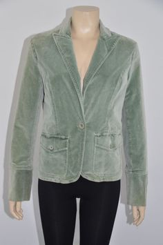 Omei Green Velvet Long Sleeves Women's Jacket/Blazer Size 1 On Sale #OMEI #BasicJacket