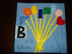 B is for balloons quiet book page