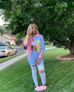baddie outfits for school Lit Outfits, Cute Swag Outfits, Basic Outfits, Dope Outfits, Cute Summer Outfits, Teen Fashion Outfits, Spring Outfits, Summer Clothes, Black Girl Fashion