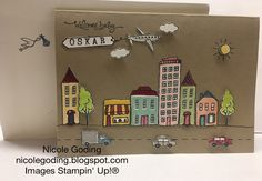 nicole goding: In The City Stamp Set, Stampin' Up!, hostess set, 3d, baby card