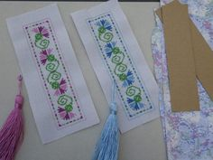 I've been making lots of bookmarks of late as gifts for friends using different methods. When I have time to stitch designs for both back and front, I do – and then assemble much the sa… Cross Stitch Books, Cross Stitch Bookmarks, Cross Stitch Charts, Cross Stitch Designs, Cross Stitch Patterns, Cross Stitching, Cross Stitch Embroidery, Cross Stitch Tutorial, Christmas Embroidery Patterns