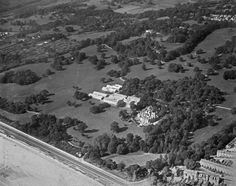 Swansea University, 1929 -  This 26th September 1929 view looking northwest shows the much-rebuilt Singleton Abbey and early university buildings beyond| Peoples Collection Wales