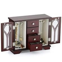 Jewelry Box - Made of Solid Wood with Cabinet Type 4 Drawers Organizer – Richrichardsonretail