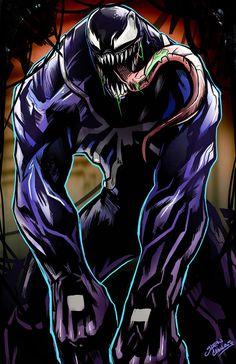 Venom by glencanlas on DeviantArt Marvel Comics Superheroes, Marvel Villains, Marvel Art, Marvel Heroes, Comic Book Characters, Comic Book Heroes, Comic Character, Comic Books Art, Venom Comics