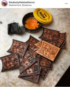 Tooled Leather, Leather Wallet, Leather Bag, Fire Hose Projects, Fitbit Bands, Leather Tooling Patterns, Leather Stamps, Leather Projects, Custom Leather