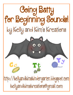 """Going Batty for Beginning Sounds"" is an adorable beginning sound to letter matching activity. This activity will be fun for your students to complete during your fall, bats, nocturnal animal, or Halloween unit. Students will identify the beginning sound of the picture shown on the bat wings and then match each picture to the correct letter shown on a bat body. This beginning sounds center activity will help your students practice identifying beginning sounds of words, while also enhancing....."