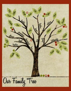 Family Tree (Print or PDF)