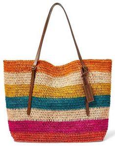 Polo Ralph Lauren Stripe Raffia  Tote  handbag  summer  colors   affiliatelink 321082c24ac4f