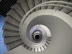 amazing spiral staircase in AINOA shopping centre, Espoo, Finland