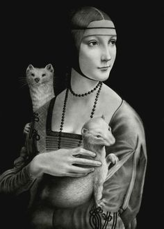 Lady with Two Ermines by VforVieslav.deviantart.com on @deviantART