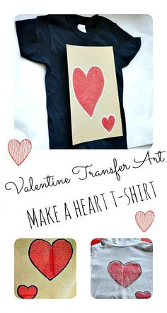 Crayon Transfer Art Project : Makes for a fun and homemade Valentine'day gift