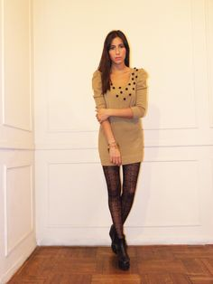 #lookbook #AW #2014 #otoño #invierno #winter #LV #LasVaskas #moda #ropa #fashion #fashionista #vestido #lana #pompones #ootd