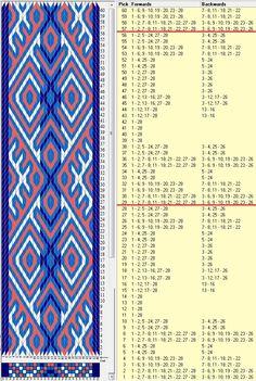 28 tarjetas, 4 colores, repite cada 28 movimientos // sed_637 diseñado en GTT༺❁