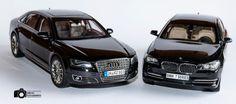 AUDI A8L W12 vs BMW 750 LI KYOSHO 1:18 - null