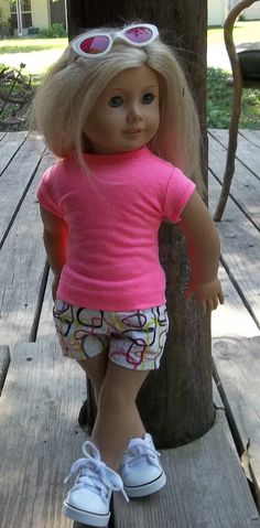 Ag doll/18 in doll clothes Cotton candy pink by GoodGollyMsDolly