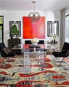 The best rug is the one that makes the room look simply perfect. The use of color combination of a carpet must be matched with the decoration of a room.