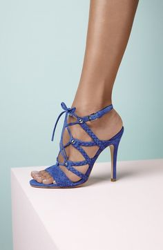 Free shipping and returns on Ivanka Trump 'Hera' Sandal (Women) at Nordstrom.com. Braided straps and slim, decorative laces add eye-catching textural details to a perfectly sophisticated high-heel sandal.