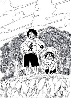 Ace and Luffy
