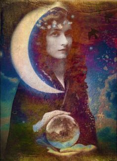 Mystical, mythological art of the Goddess and the Divine Feminine by Lisbeth Cheever-Gessaman Child Of Light, Greatest Mysteries, Sacred Feminine, Goddess Art, Mystique, Moon Art, Archetypes, Looks Cool, Light In The Dark
