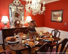 Fall Table Setting with Spode Woodland China and Natural Centerpiece